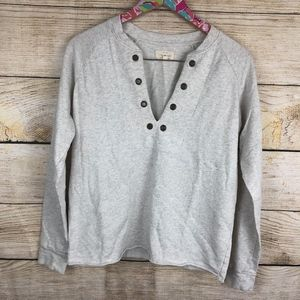 Lucky Brand lace up pullover size S // U07